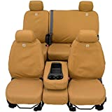Covercraft Carhartt SeatSaver Front Row Custom Fit Seat Cover for Select Ram Models - Duck Weave (Brown) - SSC2459CABN