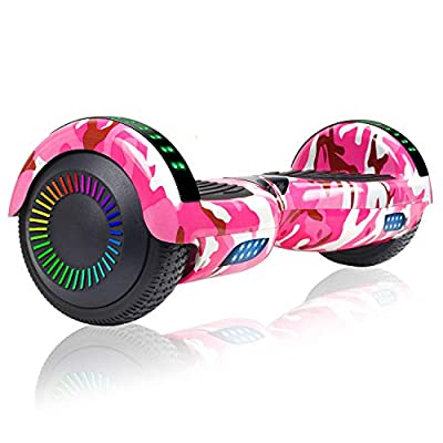 "TST Hoverboard, 6.5"" Two-Wheel Self Balancing Scooter Hover Board with LED Lights for Kids and Adults"