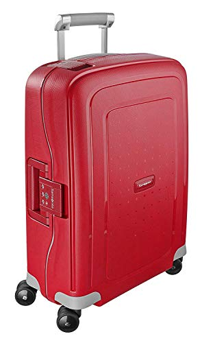 Samsonite S'Cure Hardside Luggage, Crimson Red, Carry-On