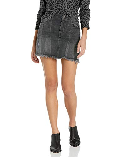 GUESS Women's Stella Destroy Mini Skirt