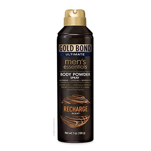Gold Bond Ultimate Men's Essentials Body Powder Spray 7 oz. Recharge Scent Odor + Wetness Protection
