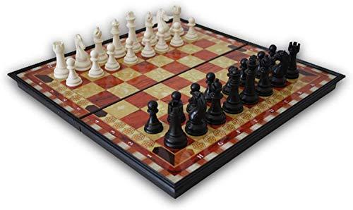YP Ajedrez Magnético - Plastico -Tablero De Ajedrez Plegable- Juego de ajedrez-Juegos De Mesa clásicos-Ajedrez Profesional-niños-pequeño 30CM