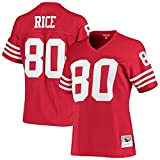 Mitchell & Ness Women's Jerry Rice Scarlet San Francisco 49ers 1990 Legacy Replica Jersey