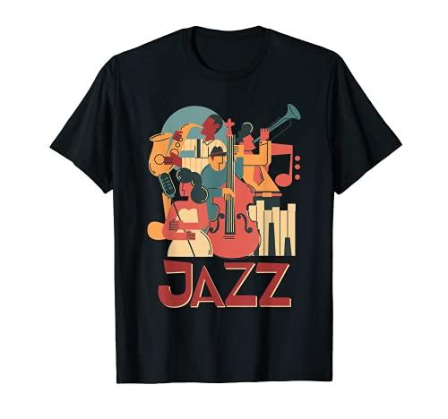 Orchestra di musicisti jazz che suonano sul palco Smooth Maglietta