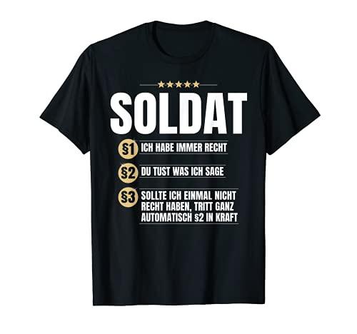 Soldat Geschenk-Idee Militär Lustiges Kameraden Shirt