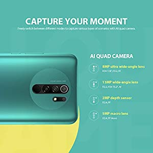 "Xiaomi Redmi 9 Smartphone 4GB 64GB MTK Helio G80 Octa-Core 13MP AI Quad Camera 8MP Cámara Selfie 6.53"" FHD Pantalla(Grey) [No NFC]"