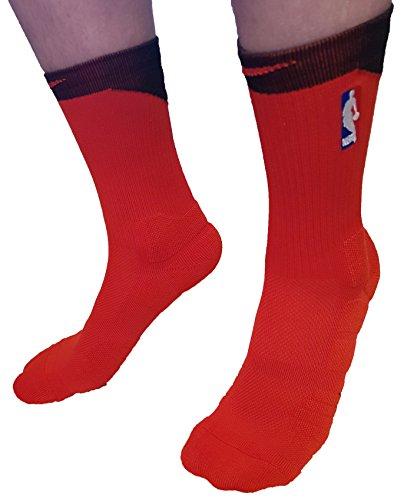 Donass Calcetines de baloncesto NBA Logoman para hombre Tamaño: 42-46 EUR (26-28 cm) (rojo - negro, rojo arriba)