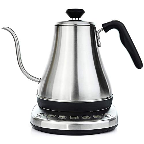 Willow & Everett Electric Gooseneck Kettle With Temperature Presets - 1L Electric Teapot Drip Kettle Temperature Control