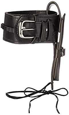 HMS Unisex-Adult's LEATHERLIKE Black Heavy Gauge Western Holster, one Size