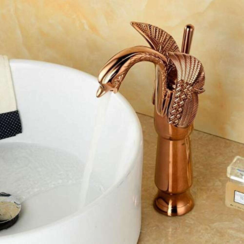 Lddpl Waschtischarmaturen Neue Hohe Swan Wasserhahn Bogen Design Luxus Waschmischbatterien Messing Heie Und Kalte Wasserhhne VerGoldet Einlochmontage
