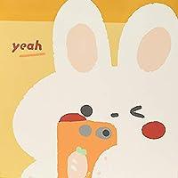 ギフトバッグ プレゼント ラッピング 手提げ袋 紙袋 選べる サイズ カラー 贈り物 ギフト クマギフトバッグ 紙バッグ衣類ショッピングバッグ バレンタイン 誕生日 クリスマス ハロウィン 父の日 母の日 クマ ウサギ リサイクル可能 5枚セット (B白いウサギ,32*26*12CM)