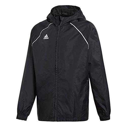 adidas unisex-child Core 18 Rain Jacket Black/White Large