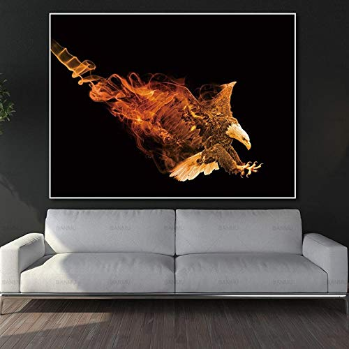 yaoxingfu Sin Marco Canvas ng Wall Art Canvas Print Animal Poster Picture Poster Living Room Art Decoration Prints Poster Sin Marco ng 60x90cm