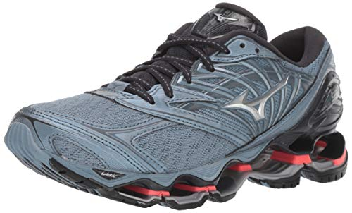 Mizuno Women's Wave Prophecy 8 Running Shoe, Citadel-Silver, 9.5 B US