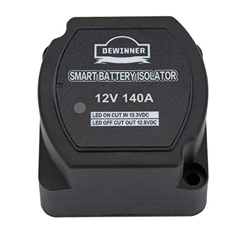Dual Battery Smart Isolator DEWINNER - VSR - Voltage Sensitive Relay, 12V 140 Amp Specially Designed for ATV, UTV, Boats, RV's, Campers 5th Wheels Off Road Vehicles Rhino (SingleIsolator)