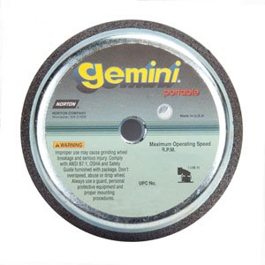 PART NO. NOR09599 6 / 4-13/16 X 2 X 5/8-11 In. Gemini Snagging Wheel Type 11 Flaring Cup 16 Grit