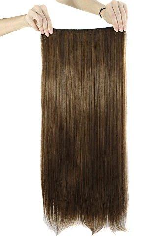 MapofBeauty 60cm/ 24 Pouce Longue Droit Femmes Postiche (Léger Brun)