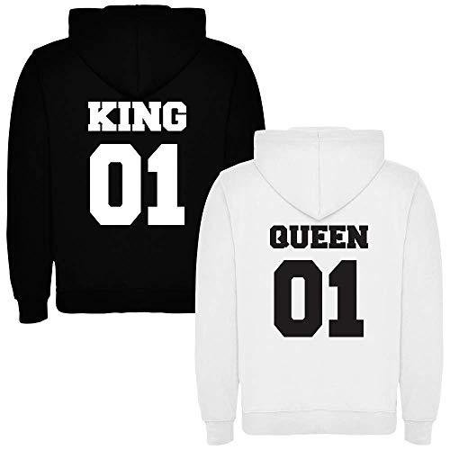 Pack de 2 Sudaderas para Parejas King 01 Bold y Queen 01 Bold