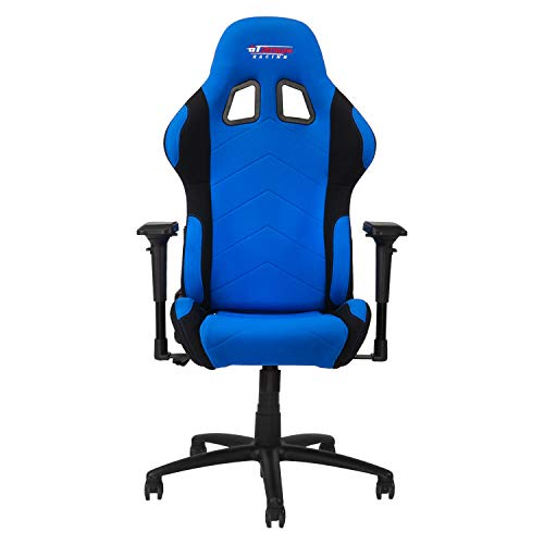 GT Omega PRO Racing Fabric Gaming Chair with Lumbar Support - Breathable & Ergonomic Office Chair with 4D Adjustable Armrest & Recliner - Esport Seat...