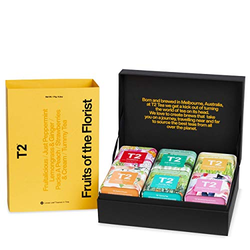 T2 Tea Fruits Of The Florist Tisanes Gift Pack -Loose Leaf In Mini Limited Edition Tin, Fruit , 6.2 Ounce