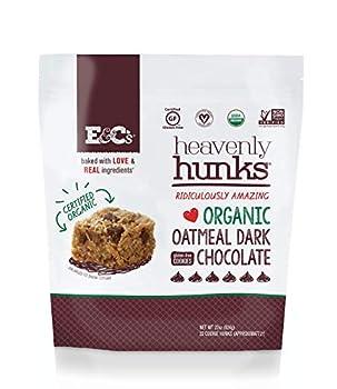 E&C's Snacks Heavenly Hunks - Certified Organic Gluten-Free Oatmeal Dark Chocolate Cookies  22 oz