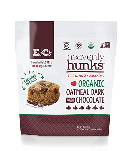 E&C's Snacks Heavenly Hunks - Certified Organic Gluten-Free Oatmeal Dark Chocolate Cookies (22 oz)
