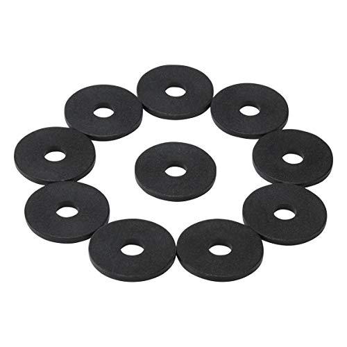 100 Einkaufswagenchips mit 6mm Loch EKW Pfandmarken Wertmarken Farbe Schwarz + 3 Chiphalter für Schlüsselbund von SchwabMarken