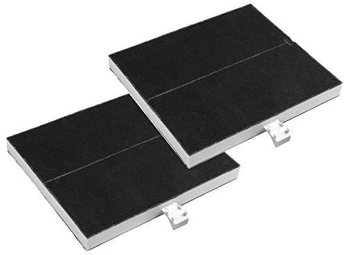 2X AquaHouse kompatibel 00361047 aktiverat kolfilter för Bosch DHZ5205 DHZ5135 DHZ5136, Neff Z5117X1 Z5117X5 Z5123X5, Siemens LZ51350 LZ51351 LZ52050, spishuva kolfilter