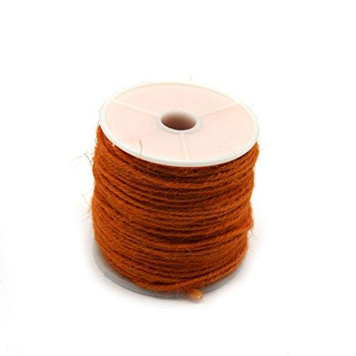 winomo Ficelle Ficelle de jute Jardin cordon Ruban cadeau binde fil 50 m (Orange)