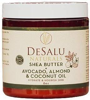 DESALU NATURALS Pure Unrefined Shea Butter with Avocado Oil, Almond Oil & Coconut Oil - 100% Natural African Shea Butter f...