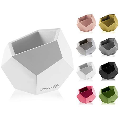 concrette Macetero de Cemento 5907699078431, Maceta de hormigón Cuadrado geométrico, diámetro de...