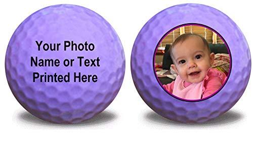 1 Dozen Lavender Golf Balls - Upload Your Logo or Text - (Lavender)