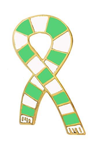 Brosche mit Anstecknadel, Motiv Fan-Schal im Retro-Look, London Irish Rugby Union, vergoldet