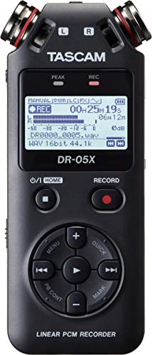 TASCAM DR-05X - Registratore audio stereo portatile professionale con interfaccia audio USB,...