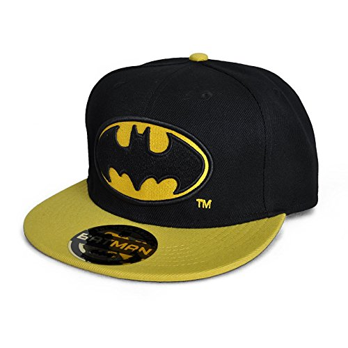 DC Comics Batman Casquette de baseball pour homme Motif logo Batman Noir/jaune