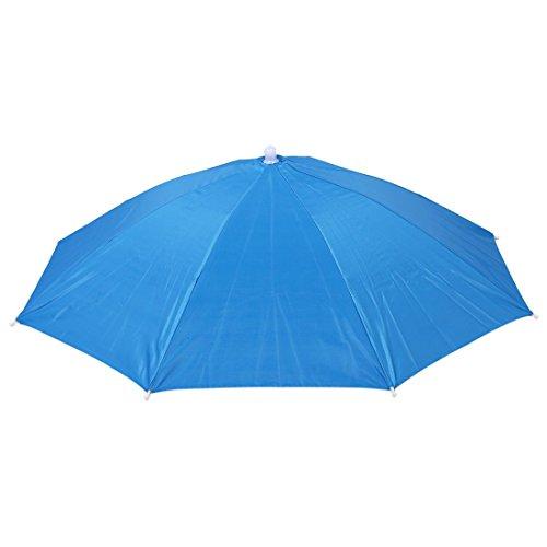 SODIAL(R) Sombrero Gorro Paraguas Umbrella Cabeza para Deporte