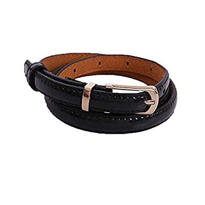 Manzzy Womens Middle Wide Leather Waist Belt adjustable Belts suitable for dresses?jeans