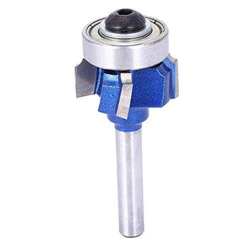 Woodworking Milling Cutter Tools, for Sharp Cutting Edges Stable Performance Round Router Bit for Wood Grooving Electric Trimmers Engraving Machines(Four-blade edge banding knife 8XR1)