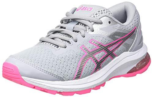 Asics GT-1000 10 GS, Road Running Shoe, Piedmont Grey/Pure Silver, 39 EU