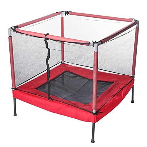 Mini Trampolín CAMA DE PROTECCIÓN DE PROTECCIÓN DE TRÁBOLINA INTERIOR NET TRUMPOLINOS AL AIRE LIBRE NIÑOS EJERCICIOS DE EJERCICIOS EQUIPOS DE FISTÍNTES para Niños ( Color : Red , Size : 105x102cm )