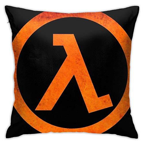 FETEAM Geek Half Life Rust Logo Funda de Almohada Cuadrada Funda de Almohada Cojín para sofá Cojín para Coche Decoraciones para Interiores Funda de Almohada para Silla