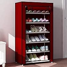 Shopper52 6 Layer Storage Cum Shoe Rack with Cover Shoe Rack Stand Shoe Organiser for Home Office Folding Shoe Rack Shoe Shelf Shoe Cabinet Shoe Storage Shoe Wardrobe Stackable Shoe Rack - 6LYRACK04