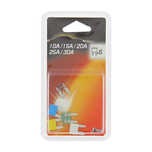 XL Tech 122761 Set de 5 mini fusibles assortis 10 à 30A