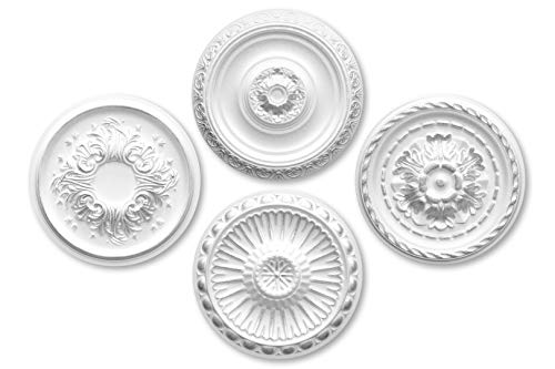 1 rozet | plafond | binnendecoratie | stuck | EPS | Decor | alle modellen | zilver modern R-20 - Ø 40 cm