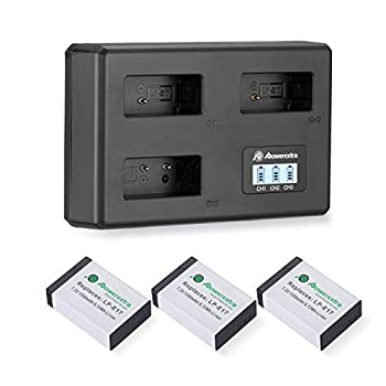 Powerextra LP-E17 Battery Charger Set for Canon EOS RP Rebel SL2 SL3 T6i T6s T7i EOS M3 M5 M6 EOS 200D 77D 750D 760D 800D 8000D KISS X8i  3 Channel USB Charger LCD Display