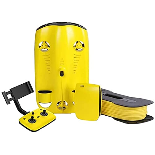 Drone submarino, 4K Ultra Alta Definición con la luz de llenado puede bucear 100 metros de experiencia, compartir social Buceo en vivo Foto de buceo bajo el agua Pesca Modo de profundidad fija RC Subm