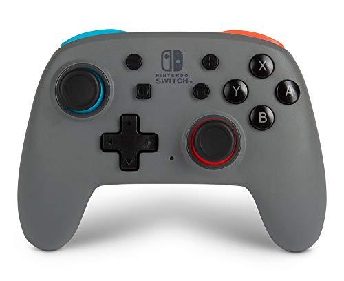 Verbesserter Kabelloser PowerA Nano-Controller für Nintendo Switch – Grau-neon