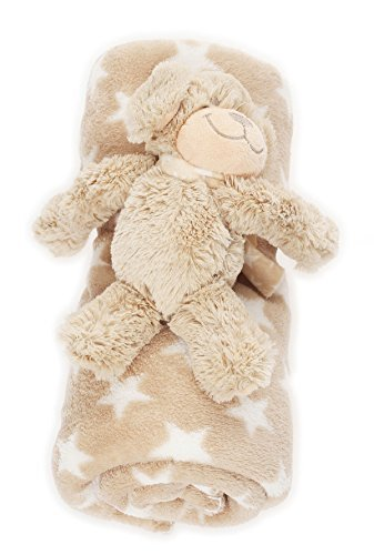bébé Couverture douce avec Animal en peluche chaud couverture BF 000033 - Boue / Etoile