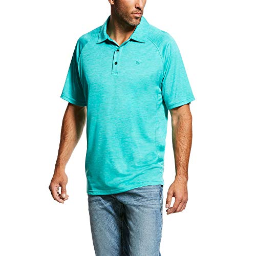 ARIAT Men's Basic Charger Polo T-Shirt Ceramic Size XL
