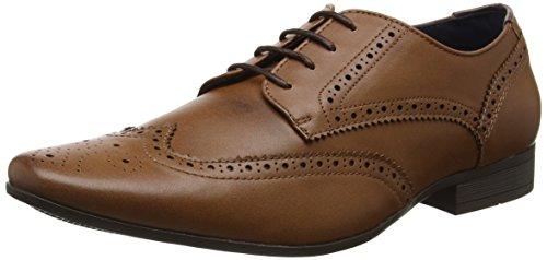 Burton Menswear London Herren Redford Brogue Schnürhalbschuhe, Braun 160, 46 EU